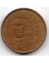 1 евроцент. 1999 г. Франция. 20-4-127