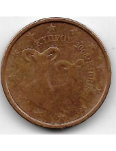 2 евроцента. 2008 г. Кипр. 20-4-129