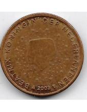 2 евроцента. 2003 г. Нидерланды. 20-4-131