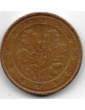"""5 евроцентов. 2004 г. Германия. """"A"""". 20-4-132"""