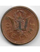 1 цент. 1989 г. Барбадос. 19-5-258