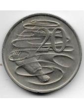 20 центов. 1967 г. Австралия. Утконос. 19-5-260