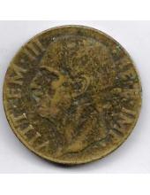 10 чентезимо. 1942 г. Италия. Эммануил III. 19-3-355