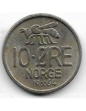 "10 эре. 1964 г. Норвегия. ""Пчелка"". 19-3-357"