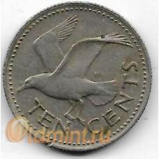 10 центов. 1980 г. Барбадос. Чайка. 19-3-358