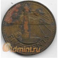 5 центов. 1979 г. Барбадос. Маяк. 19-3-360