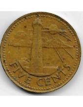 5 центов. 1973 г. Барбадос. Маяк. 19-3-361