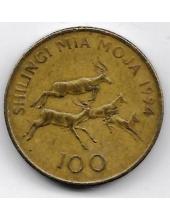 100 шиллингов. 1994 г. Танзания. Импала. 19-2-397