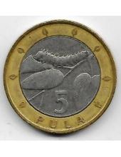 5 пула. 2007 г. Ботсвана. Гусеница на ветке. 19-2-399