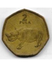 2 пулы. 2004 г. Ботсвана. Белый носорог. 19-2-400