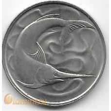 20 центов. 1980 г. Сингапур. Рыба-меч. 20-1-119