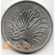 50 центов. 1974 г. Сингапур. Крылатка. 20-1-120