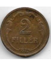 2 филлера. 1939 г. Венгрия. 20-1-121