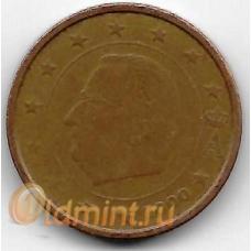 2 евроцента. 2000 г. Бельгия. Король Альберт II.