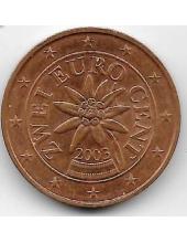 2 евроцента. 2003 г. Австрия. 20-1-125