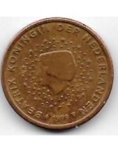 2 евроцента. 1999 г. Нидерланды. 20-2-114