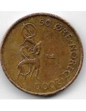 50 эре. 2000 г. Норвегия. 12-1-410