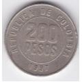 200 песо. 1997 г. Колумбия. 8-2-304