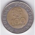 100 эскудо. 1992 г. Португалия. 8-2-333