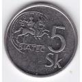 5 крон. 1993 г. Словакия. 8-2-335