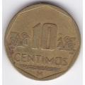 10 сентимо. 2001 г. Перу. 7-1-86