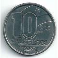 10 крузейро. 1990 г. Бразилия. 7-2-134