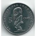 5 центов. 2000 г. Острова Кука. Бог плодородия Тангароа. 7-2-153