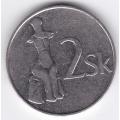 2 кроны. 1993 г. Словакия. 8-3-306