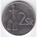 2 кроны. 1994 г. Словакия. 8-3-307