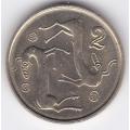 2 цента. 1998 г. Кипр. 8-4-146