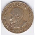 10 центов. 1977 г. Кения. Джомо Кениата. 19-3-110
