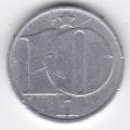 10 геллеров. 1977 г. ЧССР. 8-4-230