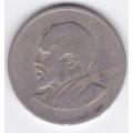 1 шиллинг. 1968 г. Кения. Джомо Кениата. 8-4-328