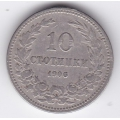 10 стотинок. 1906 г. Болгария. 8-4-369