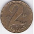 2 форинта. 1989 г. Венгрия. 8-4-379