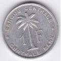 1 франк. 1958 г. Руанда-Урунди. 8-3-365