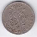 50 сентимов. 1926 г. Бельгийское Конго. 8-3-366