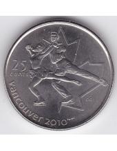 25 центов. 2008 г. Канада. Фигурное катание. 8-5-79