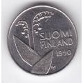 10 пенни. 1990 г. Финляндия. Ландыши. 8-5-190