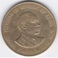 10 центов. 1984 г. Кения. Даниэль Тороитич арап Мои. 7-2-207