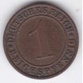 "1 рейхспфенниг. 1929 г. Германия. ""A"". 7-2-231"