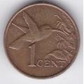 1 цент. 1994 г. Тринидад и Тобаго. Колибри. 7-2-279