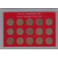 Набор монет Великобритании 3 пенса (1953-1967 гг.).