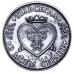 """Жетон """"Счастливая монета. На удачу. Я тебя люблю"""". 9-0-0"""