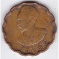 25 центов. 1944 г. Эфиопия. Хайле Селассие I. 7-3-390