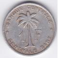 1 франк. 1958 г. Руанда-Урунди. 7-3-395