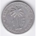 1 франк. 1957 г. Руанда-Урунди. 7-3-419