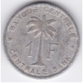 1 франк. 1958 г. Руанда-Урунди. 7-3-420