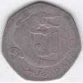 1 даласи. 1998 г. Гамбия. Африканский узкорылый крокодил. 19-5-178