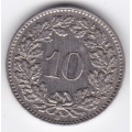 10 раппен. 1962 г. Швейцария. 7-5-54